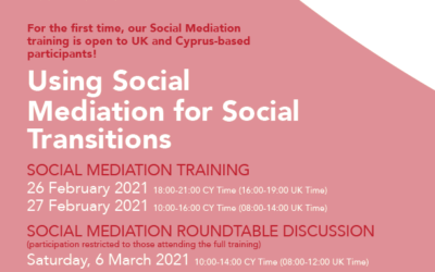Upcoming Workshop on Social Mediation for Social Transitions